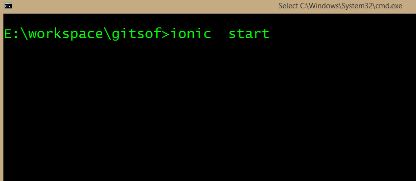 command to start ionic project