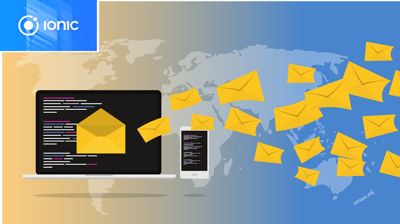 How to use mail in html ionic 4
