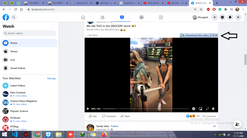 download video from facebook